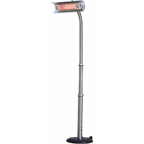 Fire Sense Stainless Steel Telescoping Offset Pole Mounted Infrared Patio Heater by Well Traveled Living