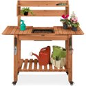Best Choice Pre-Stained Wood Garden Potting Bench