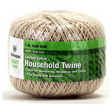 Wellington Cordage 15661 430 ft. Twisted Cotton Household Twine, Natural Color (Twisted Natural)