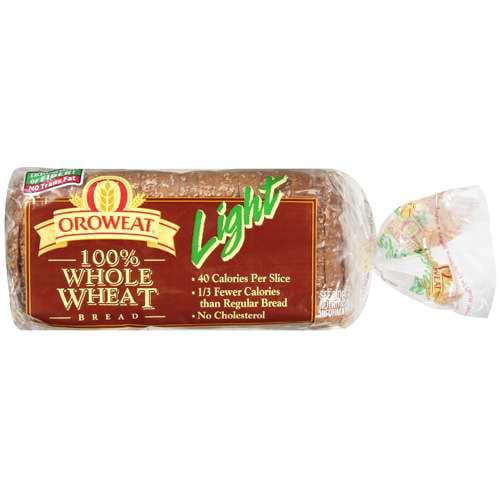 Oroweat Light 100% Whole Wheat Bread, 16 oz