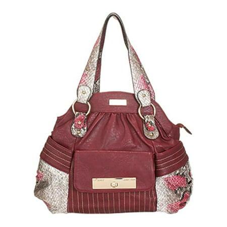 Aryana Adi 13 Red Snake Print Single Strap Zip Closure Womens Handbag