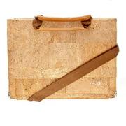 Earth Cork Briefcases CK4001 Tondela Natural Cork Briefcases, Tan