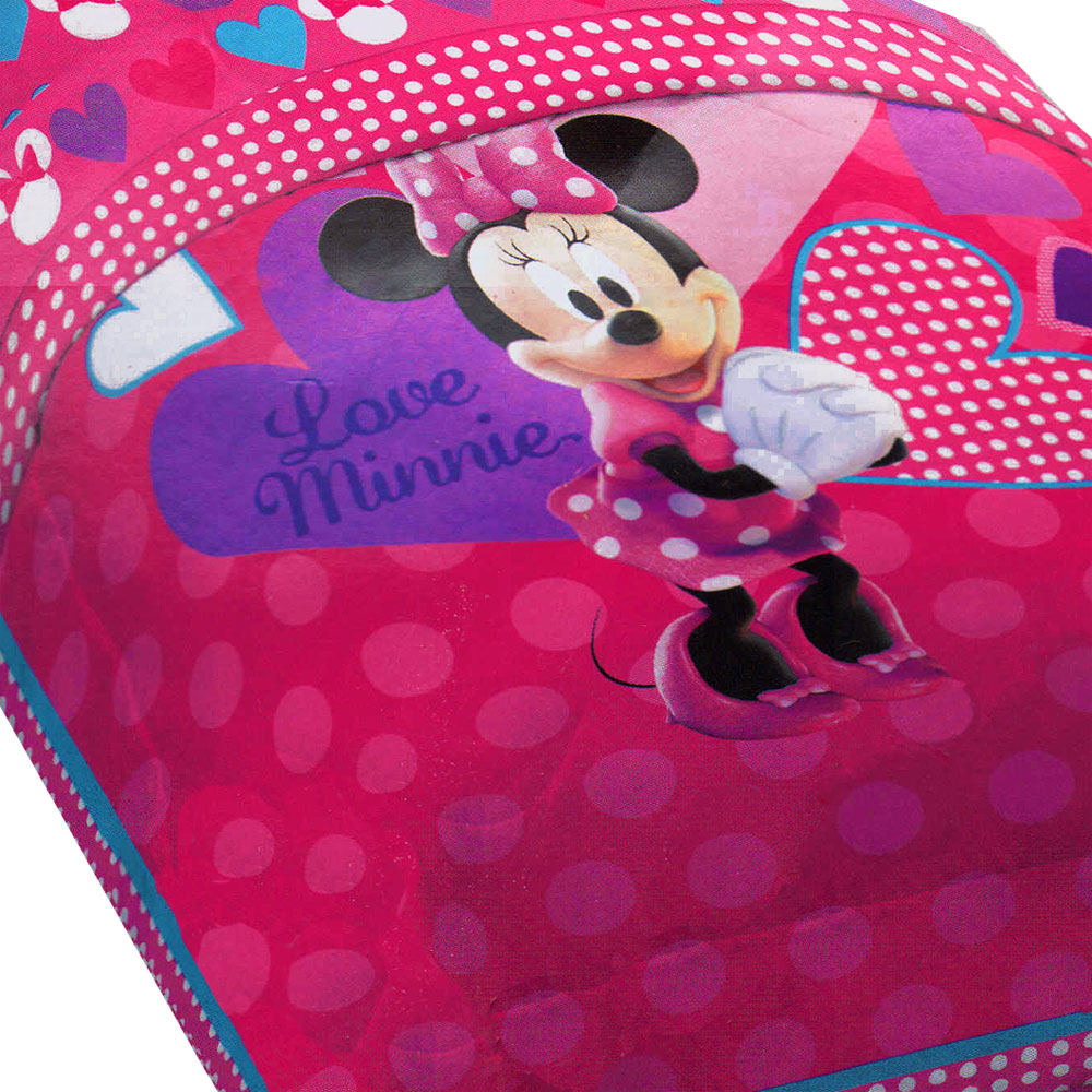 Jay Franco And Sons 12676764 Disney Minnie Mouse Bed Comforter Hearts Bow-tique Bedding