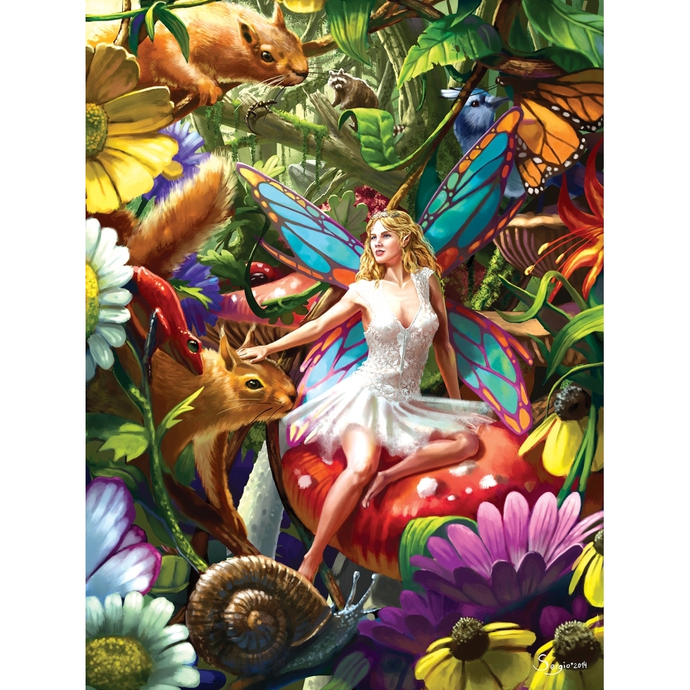 Summer Forest Fairy Foil 750 Piece Puzzle