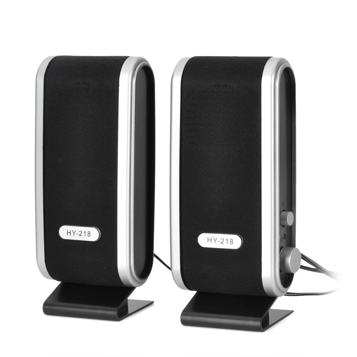 2PCS Universal ABS Mini Small USB Power 8W Speakers for Laptop PC computer