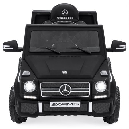 Best Choice Products 12V Licensed Mercedes Ride On Car W  Parent Control  Built In Speakers And Aux Jack  Matte Black