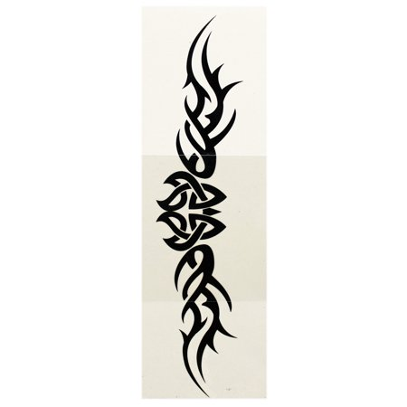 Winged Intricate Woven Symbol Design Temporary Tattoo
