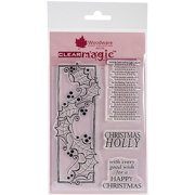 """Woodware Clear Stamps 3.5""""X5.5""""-Holly Panel, Pk 1, Woodware Craft Collection"""