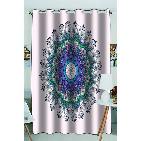 Phfzk hippie indian mandala window curtain bright pattern - Curtain ideas for living room india ...