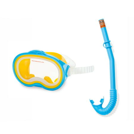 Intex Adventurer Snorkel and Mask Swim Set for Kids Ages 8 and Up | 55942E (Rubber Snorkel)