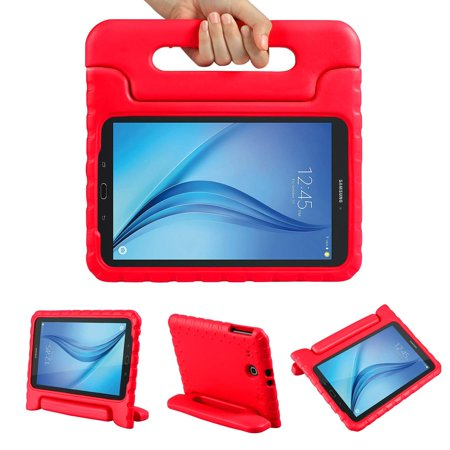 Galaxy Tab E 9.6 Case, Allytech Dynamo Case for Samsung Galaxy Tab E 9.6 | Shock Proof Heavy Duty Kidproof Cover for Kids | Girls, Boys | Kid Friendly Handle & Stand | Samsung SM-T560 T561, Red ()
