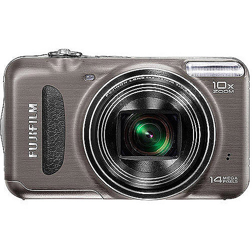 "FujiFilm FinePix T190 14MP Digital Camera, Black with 10x Optical Zoom, 2.7"" LCD Display  and 100 Bonus Prints Coupon"