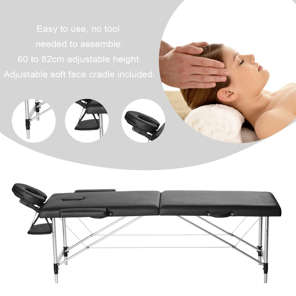 Portable Folding Therapy Massage Bed Adjustable Spa Relax...