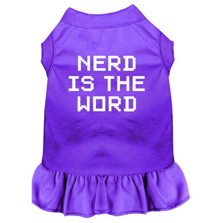 Nerd Is The Word Screen Print Dress Purple Xxxl (20)