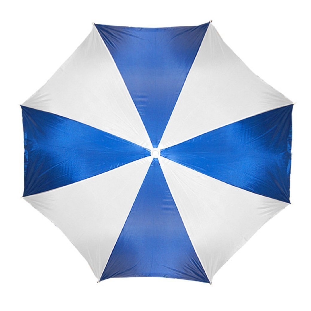 """Beach Umbrella 72"""" Wide & 72"""" High (Blue White.) ? by Home Innovations"""
