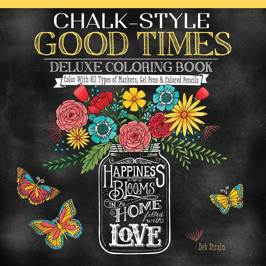 Design Originals Chalk-Style Good Times Coloring Book