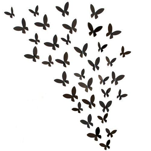 Fetco Home Decor Rowhouse Bursts Butterflies Wall Art Set