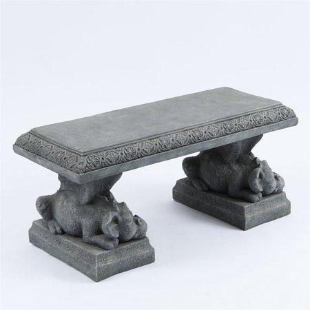 39 Quot Dragon Decorative Cement Garden Bench In Stone