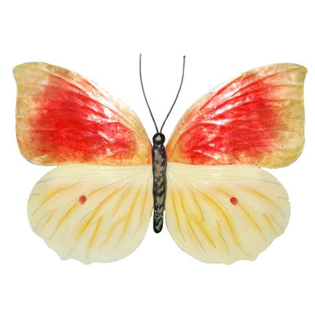 Eco Style Home esh122 Butterfly Wall Decor Orange & Yellow