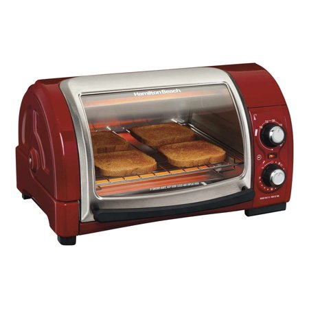 Top Oven Door Seal (Hamilton Beach Easy Reach Toaster Oven With Roll Top Door Home Good - Red )