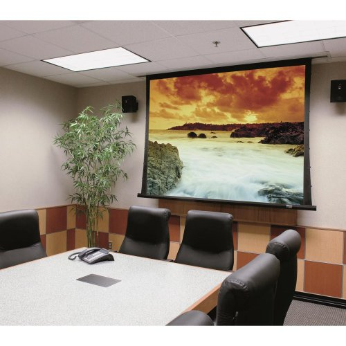 Signature Series V Matte White Electric Projection Screen Viewing Area: 9' H x 9' W