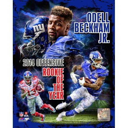 Odell Beckham Jr 2014 Nfl Offensive Rookie Of The Year Portrait Plus Sports Photo