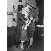 Soldier from the 69th Regiment bidding his family farewell Poster Print by Stocktrek Images