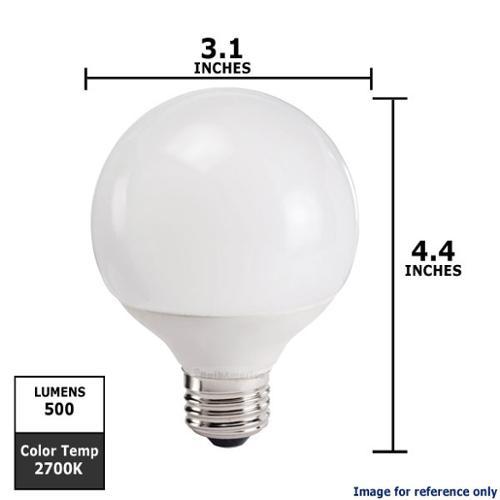Philips 9w Globe G25 2700K E26 Fluorescent Light Bulb