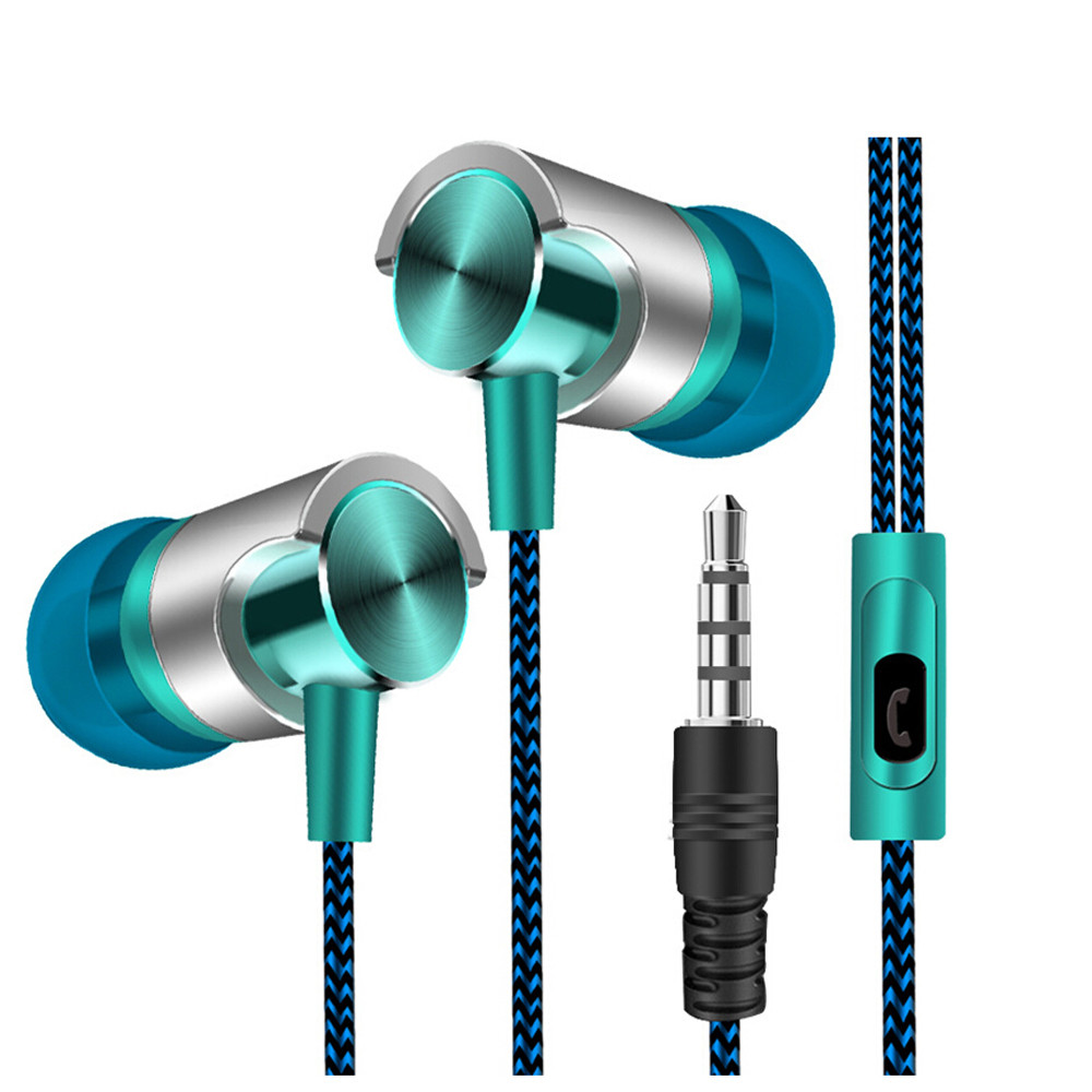 Hight Quality Universal 3.5mm In-Ear Stereo Earbuds Earphone With Mic For Cell Phone