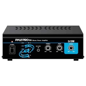 Pyle Compact Home Audio Amplifier - Stereo Power Amp, AUX/MP3/RCA Input