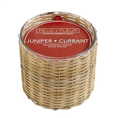 JUNIPER+CURRANT Field + Fleur Reed 2-Wick Handwoven 12 oz Scented Jar Candle