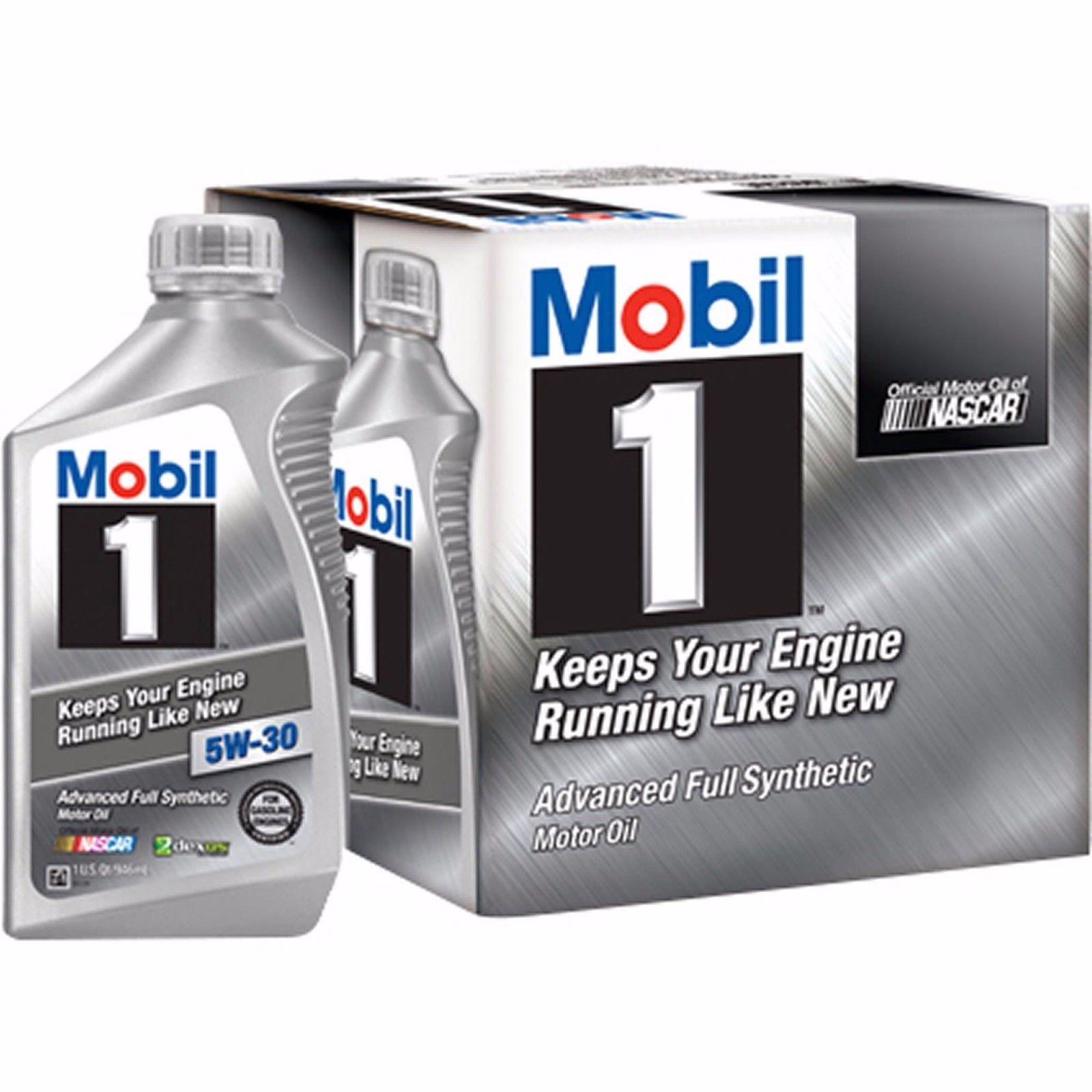 Mobil 1 High Mileage 5w30 Quart Case