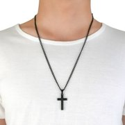 Besufy Stainless Steel Cross Pendant Men Women Chain Necklace Religious Jewelry Gift