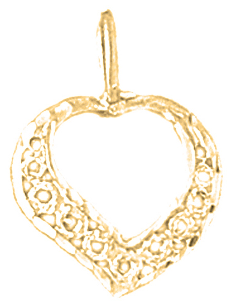 Jewels Obsession #1 Daughter Charm Pendant 23 mm 14K Yellow Gold #1 Daughter Pendant