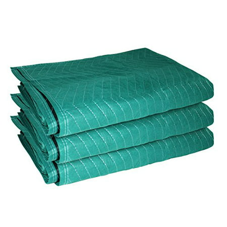 3 Moving Blankets Furniture Moving Blanket Moving Pads 72 X 80 Black On Green