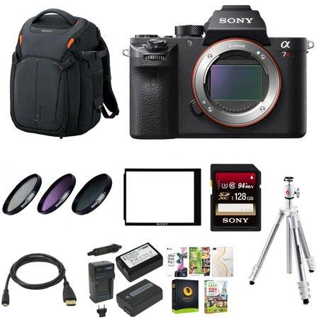 Sony Alpha A7rii Mirrorless Camera W  Vanguard Backpack   128Gb Sd Card Bundle