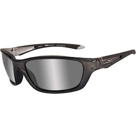 WILEY X 855 Wiley X - Brick Glasses, Silver Flash(Smoke Grey) Lens/Crystal Metallic Frame
