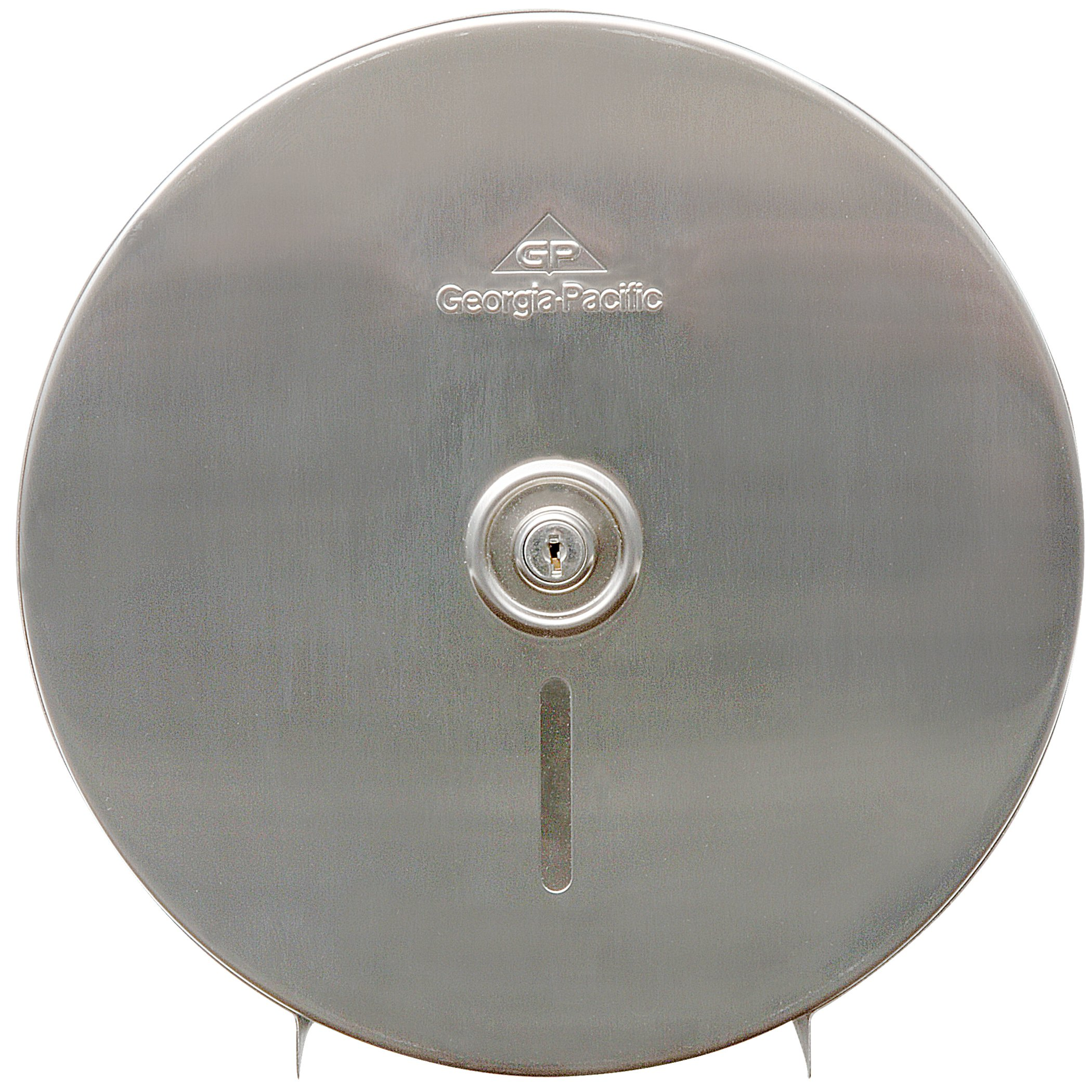 """Georgia Pacific 594-48 Stainless Steel Jumbo Roll Tissue Dispenser, 10 3/4"""" Diameter, 4.44""""d"""