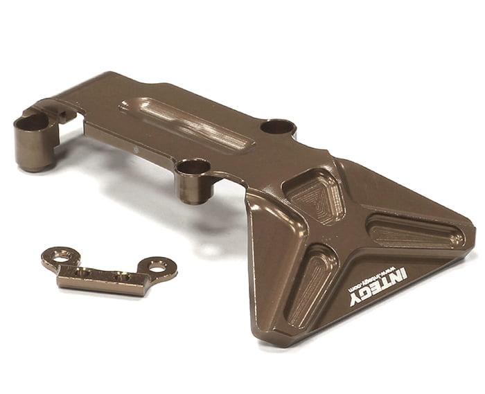 Integy RC Toy Model Hop-ups T3982GUN Billet Machined T2 Rear Skid Plate 1 16 Traxxas... by Integy