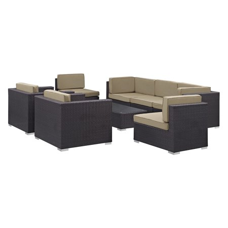 Modway Wicker Conversation Set
