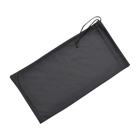 Soft Microfiber Eyeglass Case, Cleaning And Storage Pouch With Drawstring, Large, Black (Microfiber Pouch Drawstring Case)
