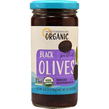 Mediterranean Organic Ripe Pitted Black Olives 8.1 oz