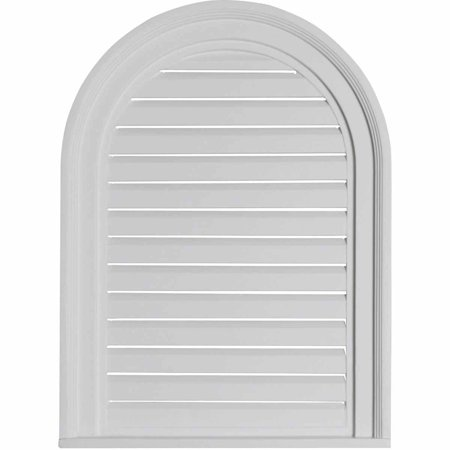 18 W x 24 H x 2 P Cathedral Gable Vent Louver Functional