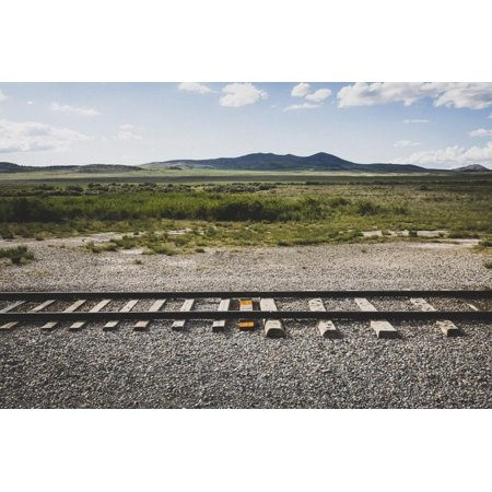 Final Tie Laid On The First Transcontinental Rail Line, Golden Spike National Historic Site, Utah Print Wall Art By Louis Arevalo