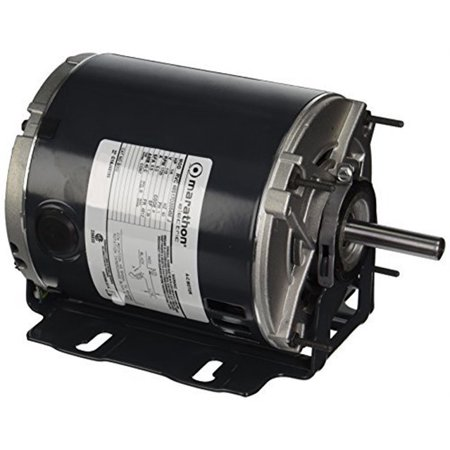 Marathon 48S17D2054 Belt Drive Motor, 1 Split Phase, Open Drip Proof, Resilient Ring Mount, Ball Bearing, 1/4 hp, 1725 rpm, 1 Speed, 115 VAC, 48YZ Frame