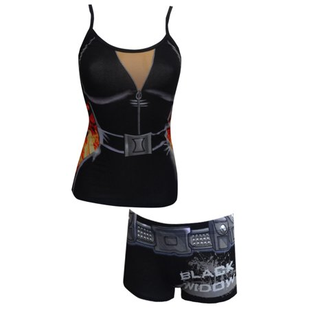 Marvel Comics Avengers Black Widow Cami & Panty Set