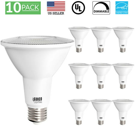 Sunco Lighting 50 Pack PAR30 LED Light Bulb 11 Watt (75W Equivalent) 3000K Kelvin Warm White, 850 Lumens, 25,000 Hours, Dimmable, Indoor / Outdoor, Flood, Accent, Highlight - UL & ENERGY STAR LISTED
