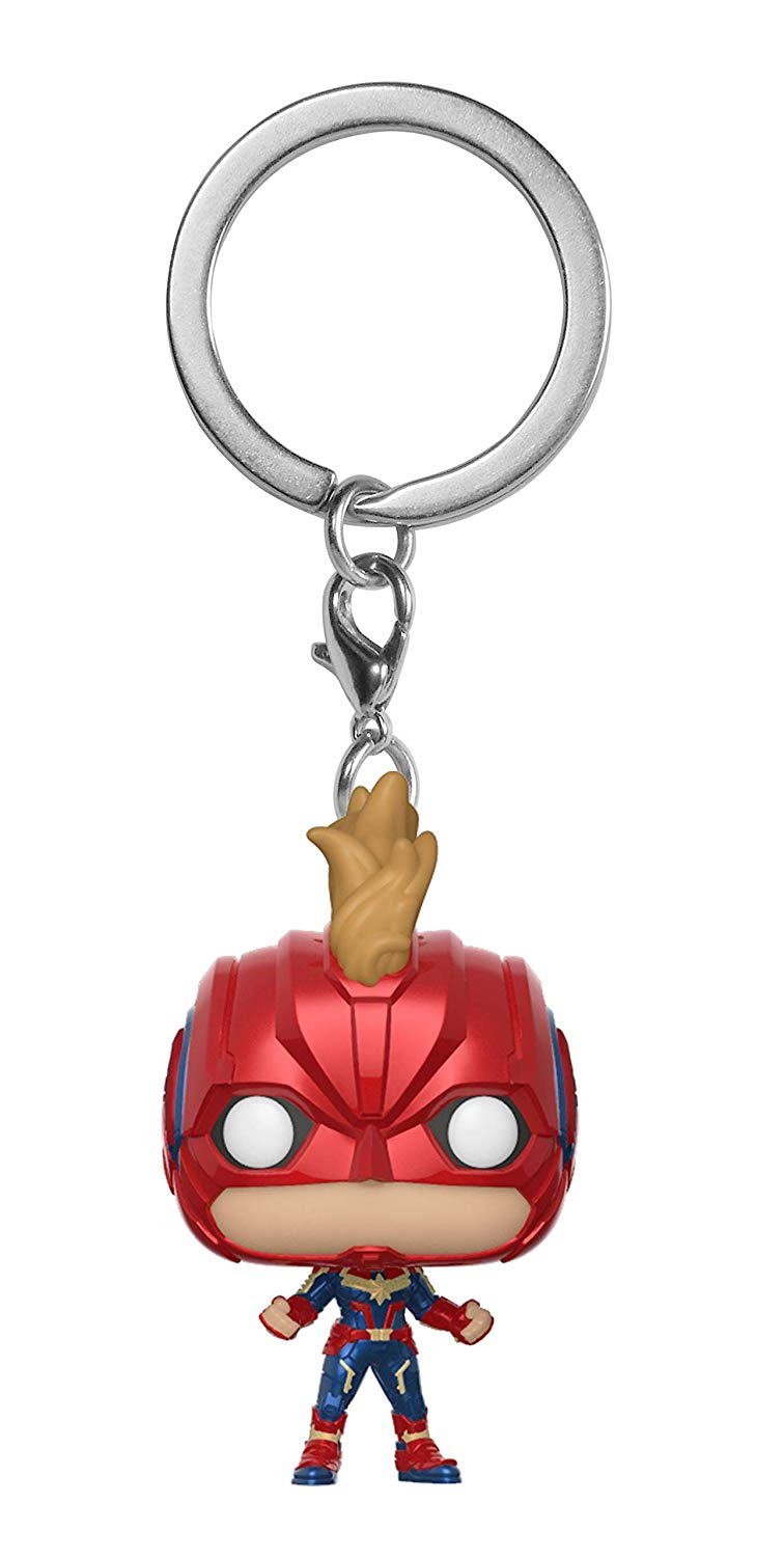 Captain Marvel mask Pocket PoP Captain Marvel Keychain Funko