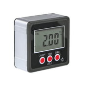 Horizontal Angle Meter Digital Protractor Inclinometer Electronic Level Box Magnetic Base Measuring Tools Black