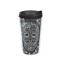Fiesta Skull And Vine 16 oz Tumbler with lid